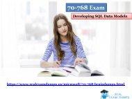 70-768 Braindumps | Exact MICROSOFT Exam 70-768 Dumps - 70-768 Questions Answers