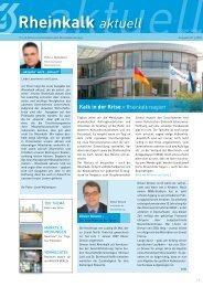 Kalk in der Krise - Rheinkalk