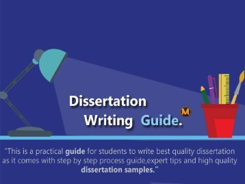 Dissertation writing guide that will show you the right direction.
