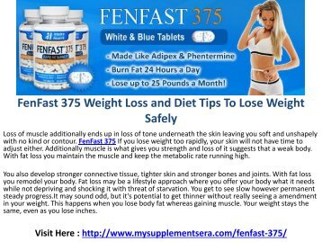 FenFast 375 : For Easier And Faster Weight-Loss