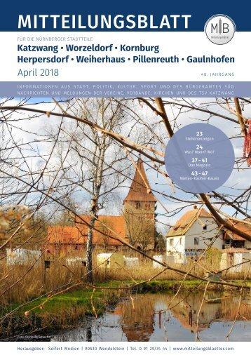 Nürnberg-Katzwang/Worzeldorf/Kornburg - April 2018