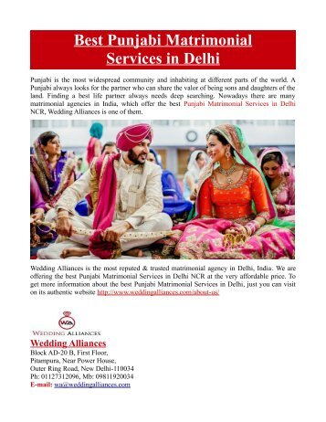 Best Punjabi Matrimonial Services in Delhi