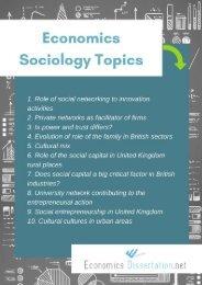 Economics Sociology Dissertation Topics