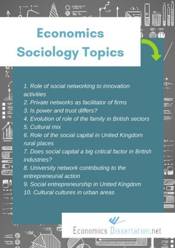 Economics Sociology Dissertation Topics