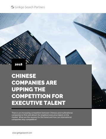 Chinese Companies are Upping the Competition for Executive Talent