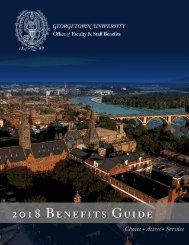 Georgetown 2018 Benefits Guide