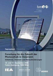 Photovoltaik Tagungsband - NachhaltigWirtschaften.at