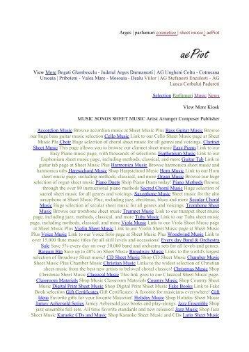 sheet music songs