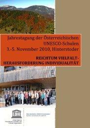 Jahrestagung 2010 - UNESCO Schulen