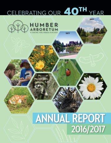 Humber Arboretum .  Annual Report 2016-17