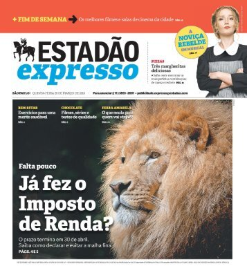 Estadão Expresso - Edição de 29.03.2018