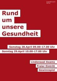 Rund um unsere Gesundheit - SPÖ Grinzens - SPÖ Tirol