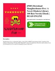 [PDF] Download Slaughterhouse-Five A Novel (Modern Library 100 Best Novels) Ebook  READ ONLINE