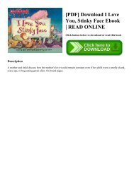 [PDF] Download I Love You  Stinky Face Ebook  READ ONLINE