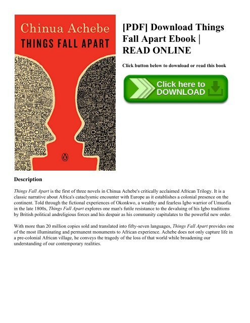 Things Fall Apart Full Book Pdf