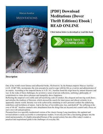 [PDF] Download Meditations (Dover Thrift Editions) Ebook  READ ONLINE