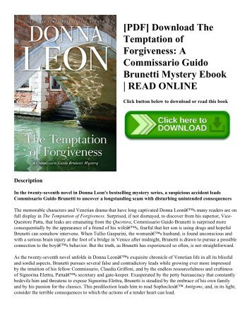 [PDF] Download The Temptation of Forgiveness A Commissario Guido Brunetti Mystery Ebook  READ ONLINE
