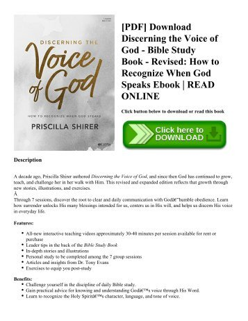 Pdf download driven to distraction revised recognizing and pdf download discerning the voice of god bible study book revised how fandeluxe