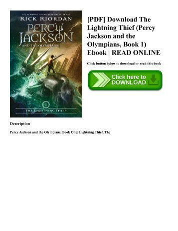 [PDF] Download The Lightning Thief (Percy Jackson and the Olympians  Book 1) Ebook  READ ONLINE