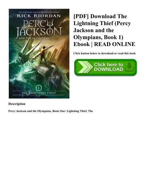 Pdf Download The Lightning Thief Percy Jackson And The Olympians