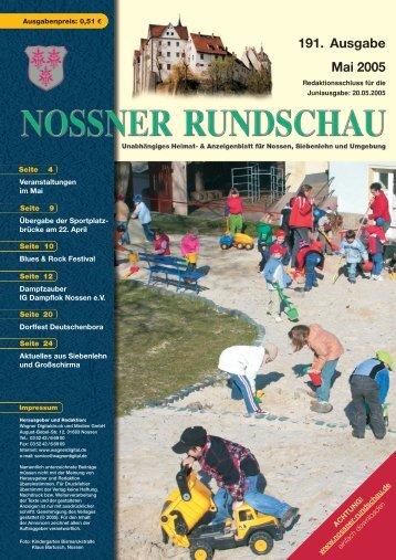 191. Ausgabe Mai 2005 - Nossner Rundschau
