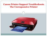 Canon Printer Support Troubleshoots The Unresponsive Printer