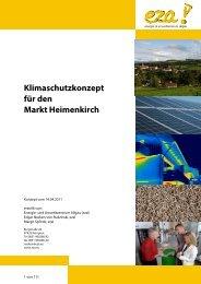 Klimaschutzkonzept für den Markt Heimenkirch