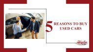 5 Reasons You Should Contact a Used Car Dealer
