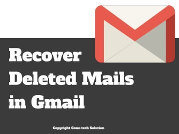Recover Deleted Mail IN Gmail - 2018 | You Should Not Miss!!!