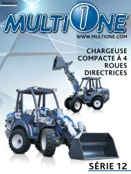 Multione Série 12 Chargeuse  compact à 4 roues directrices