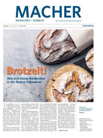 MACHER Menschen + Märkte - Ausgabe 3, April 2018