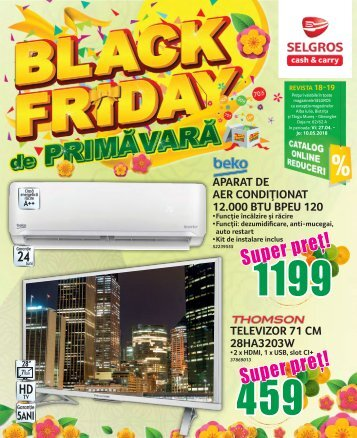 18-19 Black Friday de primavara 2018