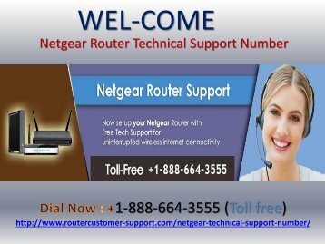 Netgear Router Tech Support Number +1-888-664-3555