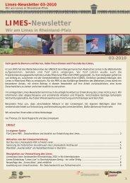 Limes-Newsletter 03-2010 - Generaldirektion Kulturelles Erbe ...