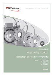 Federdruck-Einscheibenbremsmodul - Kendrion