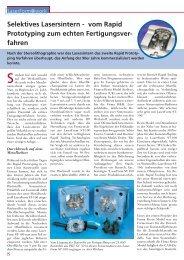 Selektives Lasersintern - vom Rapid Prototyping zum ... - 3D Systems