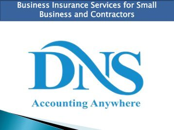 Business Insurance Services for Small Business and Contractors