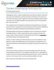 The Best Dropshipping Techniques for Entrepreneurs