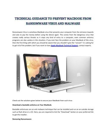 Prevent MacBook from Ransomware Virus and Malware