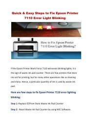 Quick and Easy Steps to Fix Epson Printer 7110 Error Light Blinking