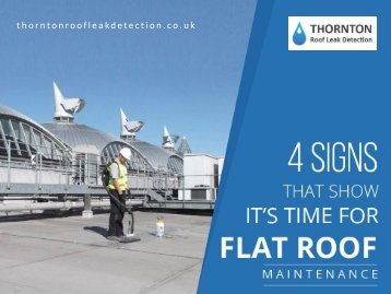 Flat Roof Leak Detection UK - Signs for Flat Roof Maintenance