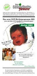 Das neue GGF-Herbstprogramm 2001