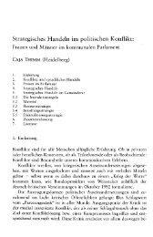 Strategisches Handeln im politischen Konflikt: - Caja Thimm