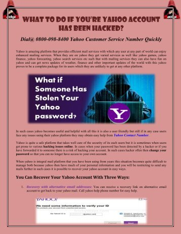 How to recover yahoo hacked account