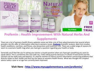 Profemin - Reduce Joint Pain And Get Results With This Formula!