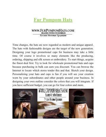 Fur Pompom Hats