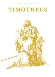 Timotheus Magazin #20 - Die Liebe Gottes