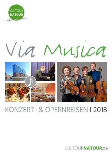 """K&N-Katalog STILVOLLE MUSIKREISEN """"Via Musica"""""""