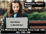 Fix Bitdefender Common Error Code 100, 101, 102