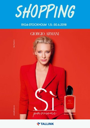 Riga-Stockholm May-June 2018 Tallink Summer Shopping catalogue – light version